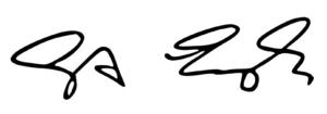 signature Engels